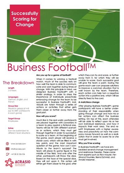 Planspiel Fußball Infoanforderung
